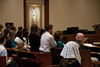 Waiting for Mass to begin