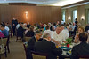 Bishop Farrell, staff, attendees, and Serrans enjoying lunch