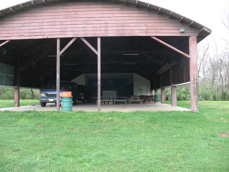 The tabernacle.  The picnic tables and vehicles will be out of here in the summer.