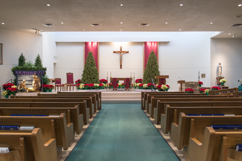 Church Sanctuary Facing Altar