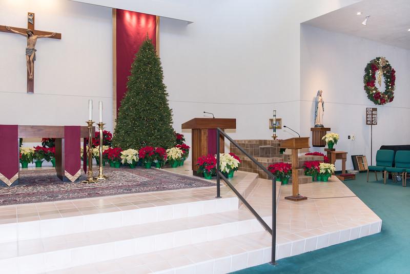 Church Sanctuary Altar, Ambo, Baptismal Fount