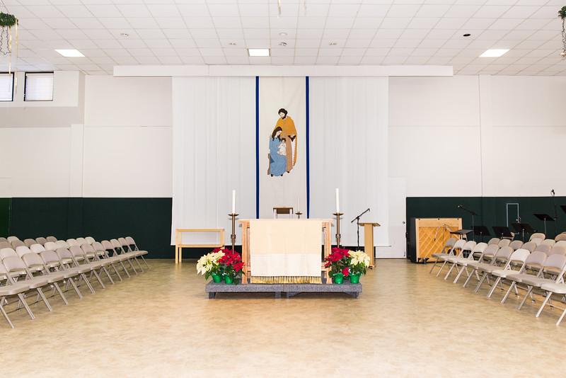 Parish Hall North Wall, Altar