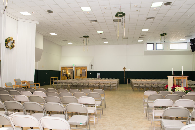 Parish Hall Seating, Facing West