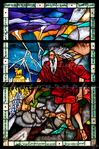 "Saint John's Episcopal Church, Marysville, CA.  This window is from the ""Ghirardelli Hall""section of the church.  Apparently, same same guy who invented the chocolate was also a pastor here and his daughter continued to fund the church."