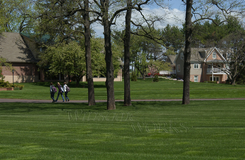Students walking to class at CD