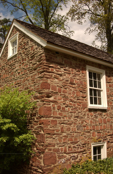 Old field-stone spring-house on CD campus