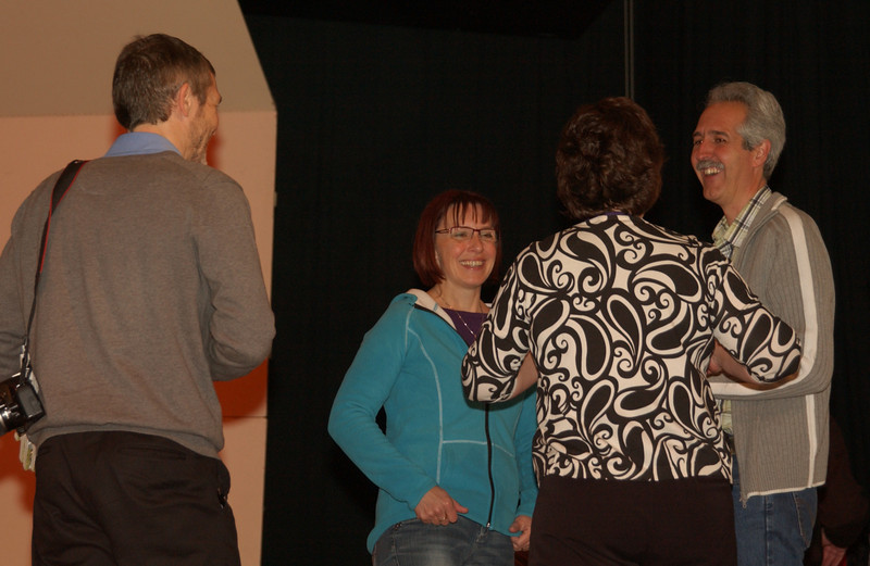 Concert at CD - afterwards (Peter and Marcus talking with CD folks)