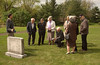 Visiting Salford Mennonite Church cemetery with Joel Alderfer