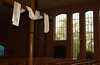 Before the concert at Zion Mennonite Church -  windows and cross