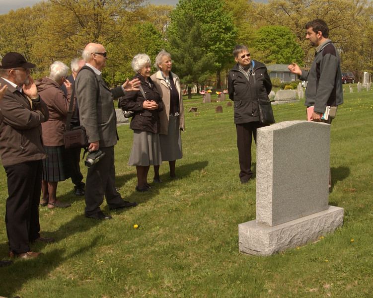 "[4x5"" crop] Visiting Salford Mennonite Church cemetery"