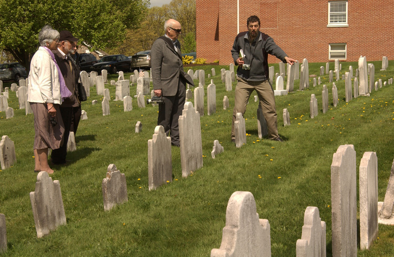 """Visiting Salford Mennonite Church cemetery (""""Anna Lisa, there's your relatives""""!)"""