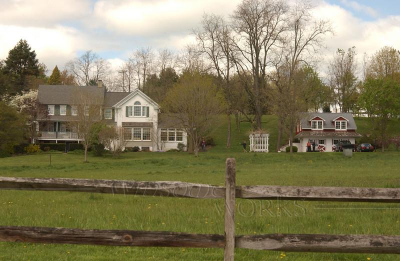 Jay & Jane Ruth's homestead in Salford, seen from  the Perkiomen creek