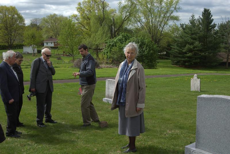 Visiting Salford Mennonite Church cemetery