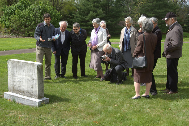 Visiting Salford Mennonite Church cemetery