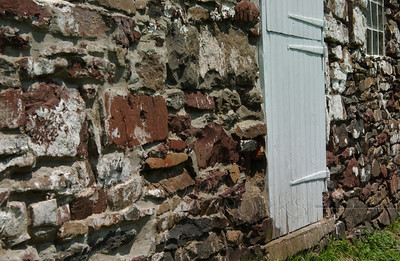 Old barn door at the Ruth homestead; Salford, PA