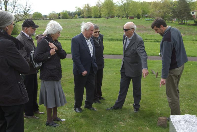 Visiting Salford Mennonite Church cemetery with Joel Alderfer