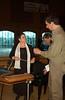 Concert at Zion -   Susanne Pfister (?) with her Appenzeller Hackbrett, speaking with Joel Alderfer