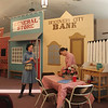 Katie the prospector (Anna) arrives in Discovery City and meets Cafe owner Sadie Brown (Katherine).