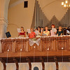 Many Odessa Presbyterian church youth joined the choir to celebrate Lena & Andrei's wedding