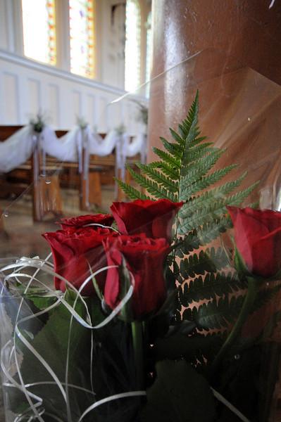 Roses in Odessa Presbyterian Church, Odessa, Ukraine