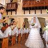 Lena the orphan bride, coming down the aisle alone but joyful in Christ