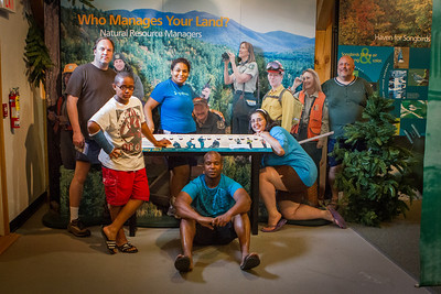 I made everyone walk through the visitor center and take cheesey pictures.  They were great sports!