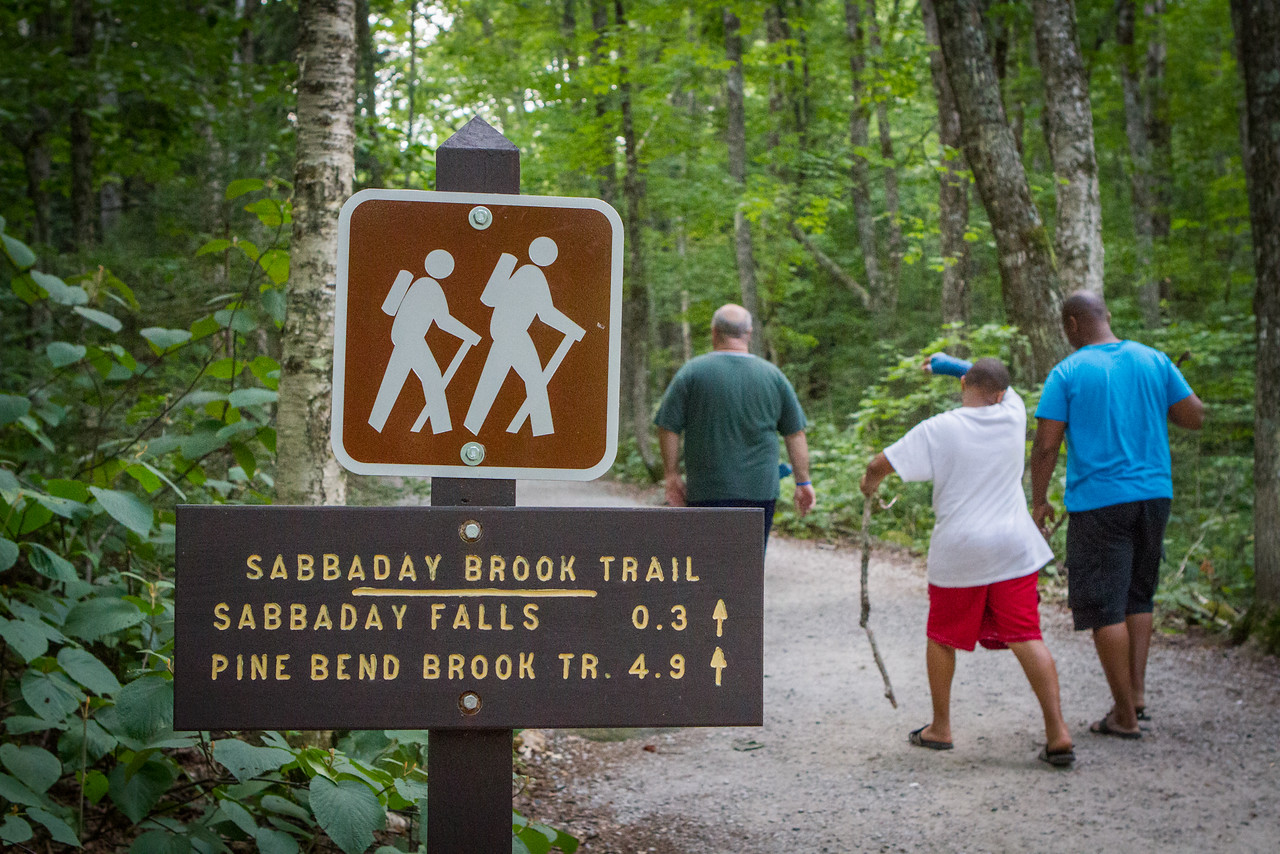 Not gonna lie… I was really glad we were heading to the falls and skipping Pine Bend Brook Trail… still trying to kick a virus, .3 miles was about all I could handle!
