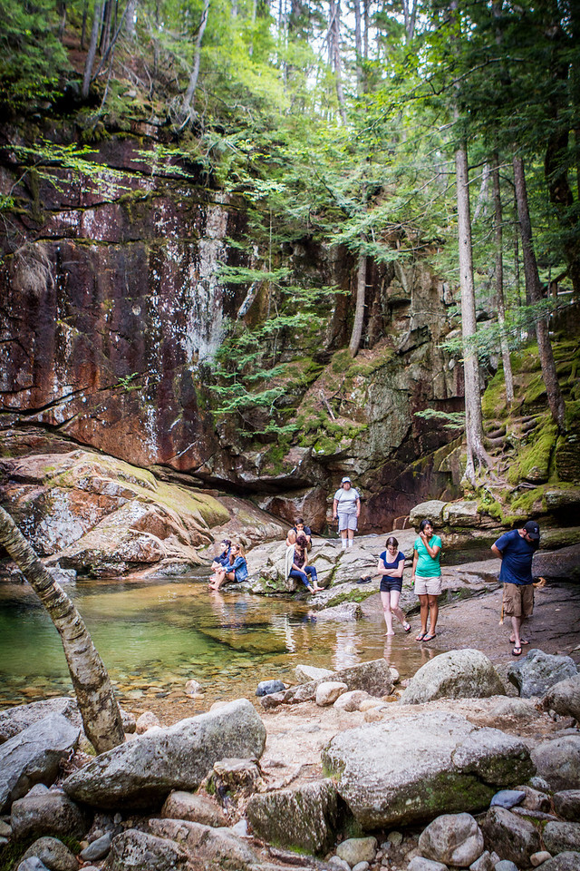 The base of Sabbaday Falls - there was a deep pool of water that was calling out to be swam in - but it's not allowed… bummer!