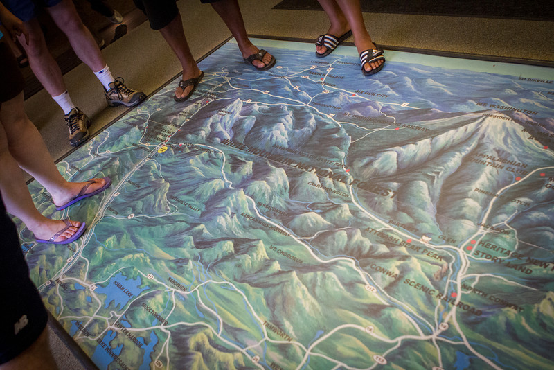 The large scale map helped us plan our route… and made us keenely aware of those that maybe should not have been wearing sandals!