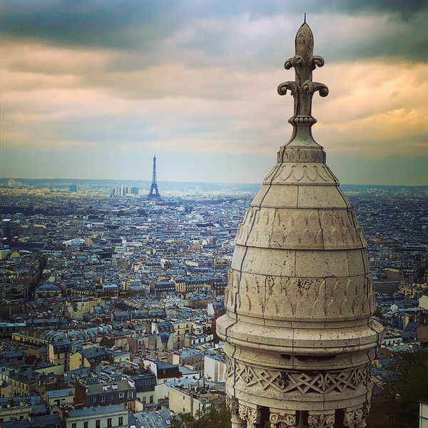 Paris view from dome of Sacre Coeur