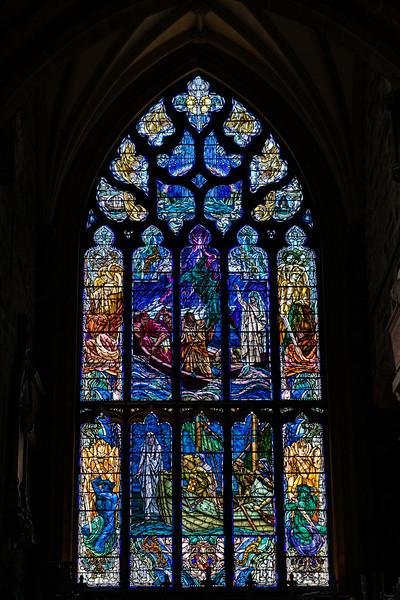 Stained glass, UK church