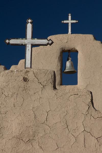 Picuras Pueblo Crosses & Belltower.