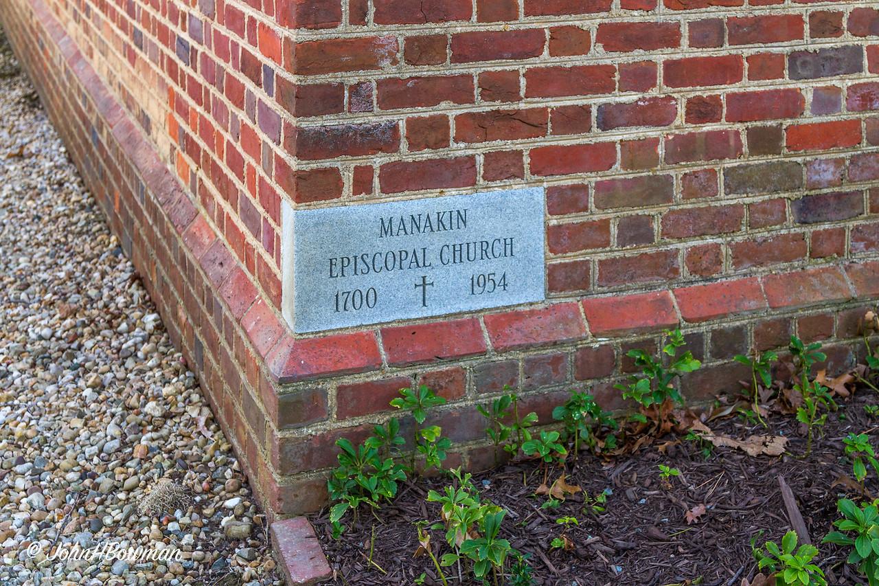 Manakin Episcopal Cornerstone, Powhatan, VA