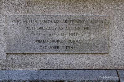 Huguenot Memorial Church & Monument, Powhatan County, VA