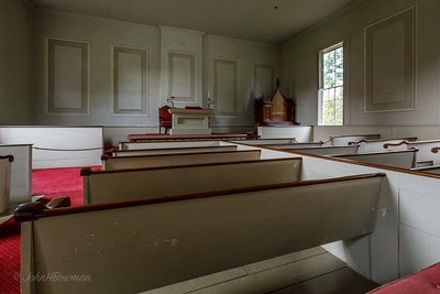 Shelburne Museum - Charlotte Meeting House, interior