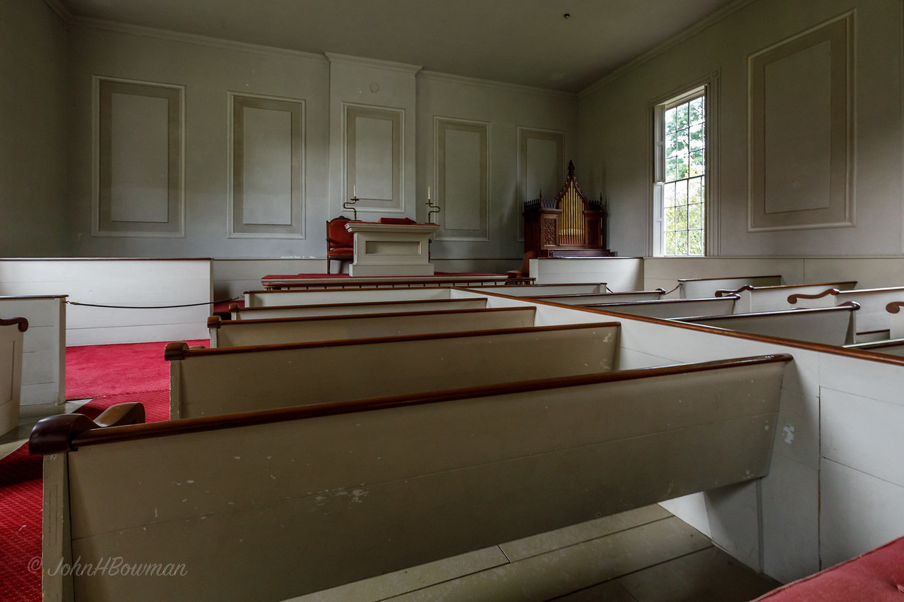 Shelburne Museum - Charlotte Meeting House, interior