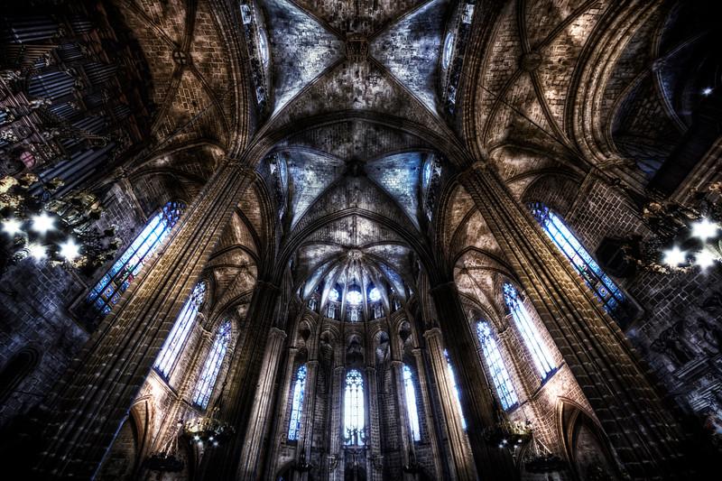 Inside the Barcelona Cathedral