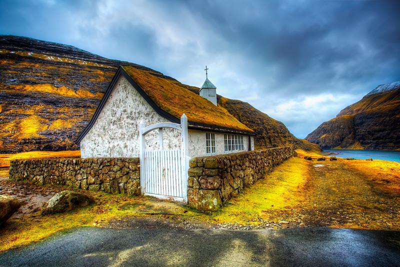 Rain in the Faroe Islands