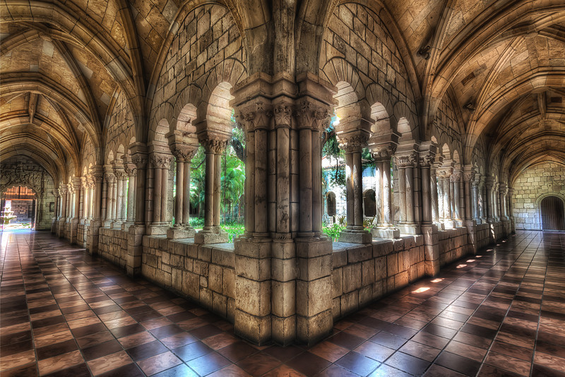 Cloisters of the Ancient Spanish Monastery