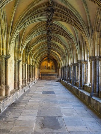 The cloisters, 2nd biggest in England next to Salisbury Cathedral.