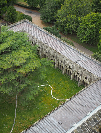 Part of the Cloisters. Not an easy photo to take without risking life and limb.