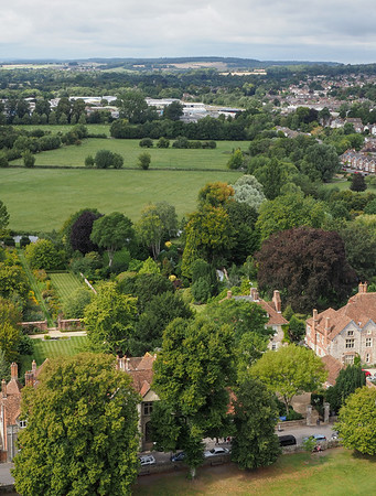 West view over the garden of Arundells leading out to the River Avon just visible, home of the former PM Sir Edward Heath. I hope to visit this house in the near future.