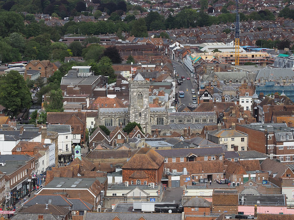 St Thomas & St Edmunds Church, part of the North view from the tower.