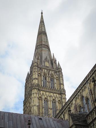 Britain's tallest spire at 123 metres, 404 feet.