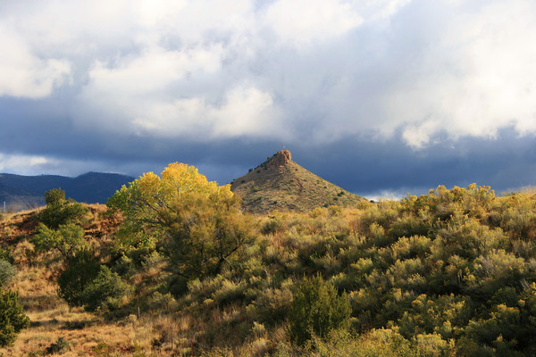Round Mountain, along Highway 70 between Mescalero and Tularosa, NM