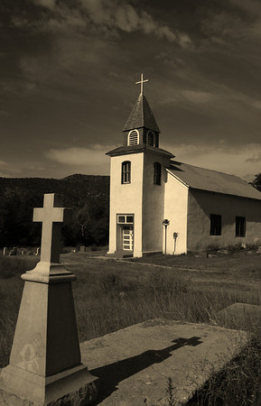 San Patricio church in Hondo valley, NM