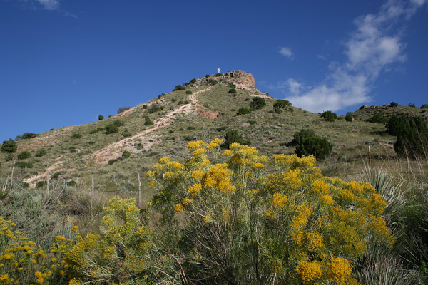 Round Mountain on highway 70 between Mescalero and Tularosa, NM.