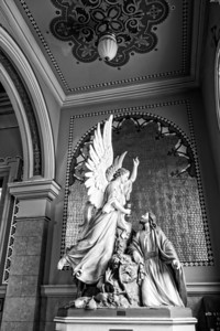 Jesus and the Angel BW