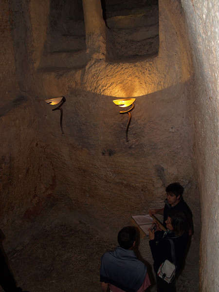 St. Peter in Gallicantu; part of a cave complex where some believe that Christ may have been held and scourged after his arrest.