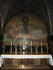 Catholic chapel, Holy Sepulchre; mosaic depicting Christ nailed to the cross